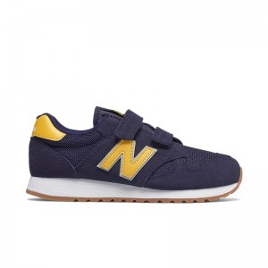Basket New Balance velcro Navy/Yellow