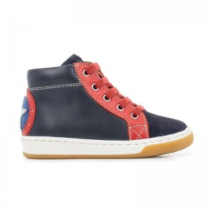 Basket Montante Dude Force Navy/Red