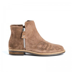 Boot Reqin's Margot peau taupe