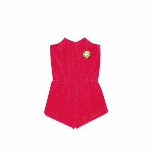 Combishort Terry Cloth Red