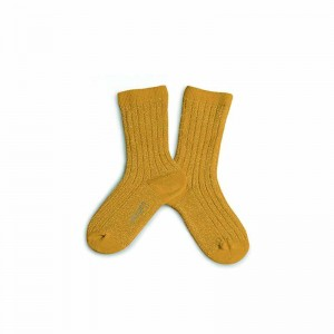 Chaussette lurex Bouton d'or