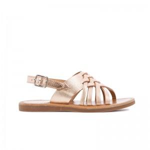 Sandale Plagette Cut cuivre