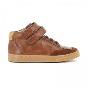 Basket Ten base cuir camel