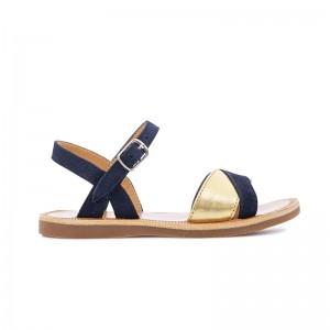 Sandale Plagette Tek Marine/Or