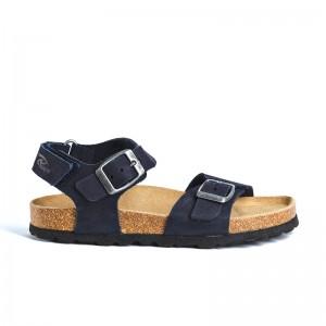 Sandale Cesar Cuir Bleu