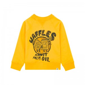 Sweatshirt Waffles Yellow