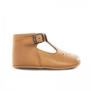 Chausson Minimilton cuir Camel