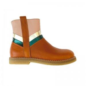 Boots Tri color Ocra Cognac