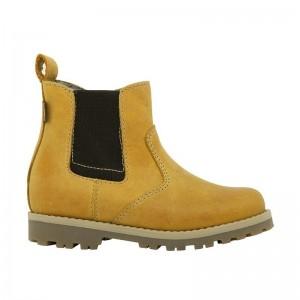 Boots élastique fourrées moutarde