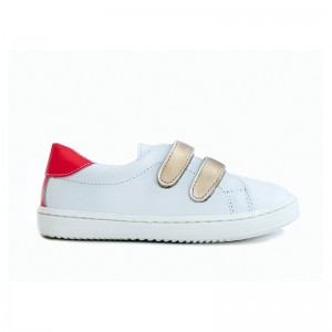 Basket Moon cuir white/fluo 21