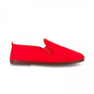 Chausson Flossy toile rouge