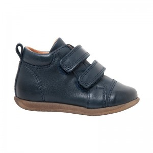 Bottine velcros navy