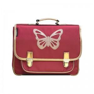 Cartable médium Papillon rubis