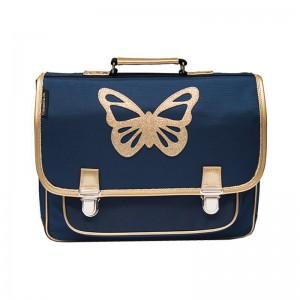 Cartable médium Papillon bleu